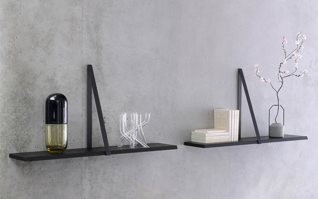 T-Square Black Shelf