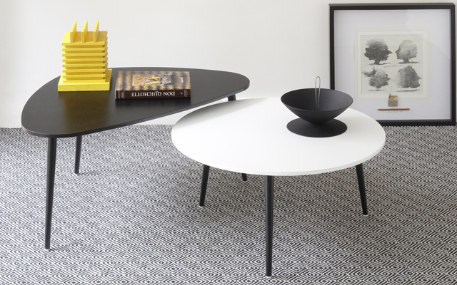 Table basse ronde Soho, noir