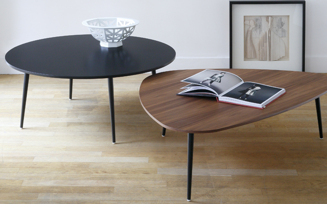 Table basse ronde soho design coedition studio coedition - Table basse ronde noire ...