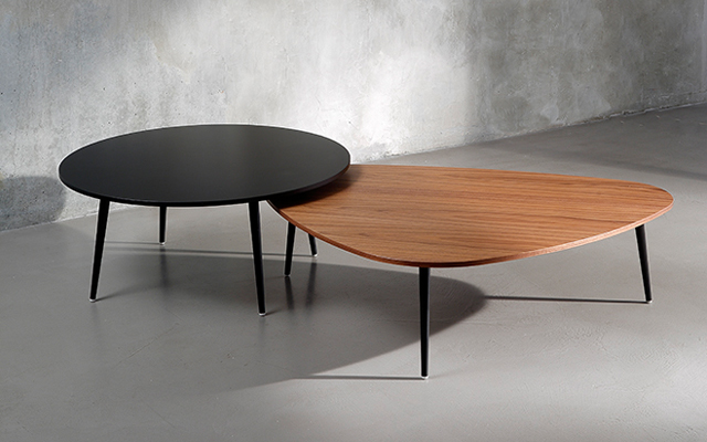 Coedition table basse triangulaire soho - Table basse ronde metal ...