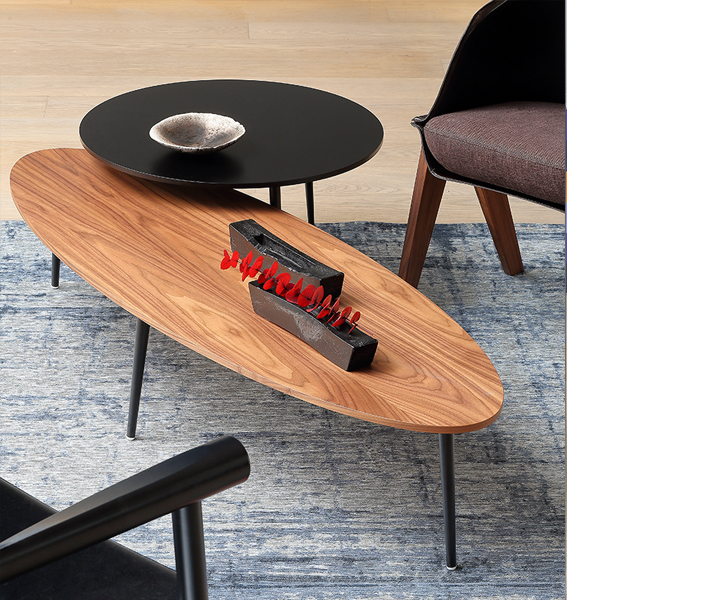 Coedition table basse ovale soho - Table basse ovale bois ...