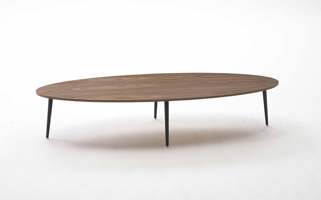 Table basse ovale soho coedition maison d 39 edition de mobilier contemporain - Table basse ovale bois ...