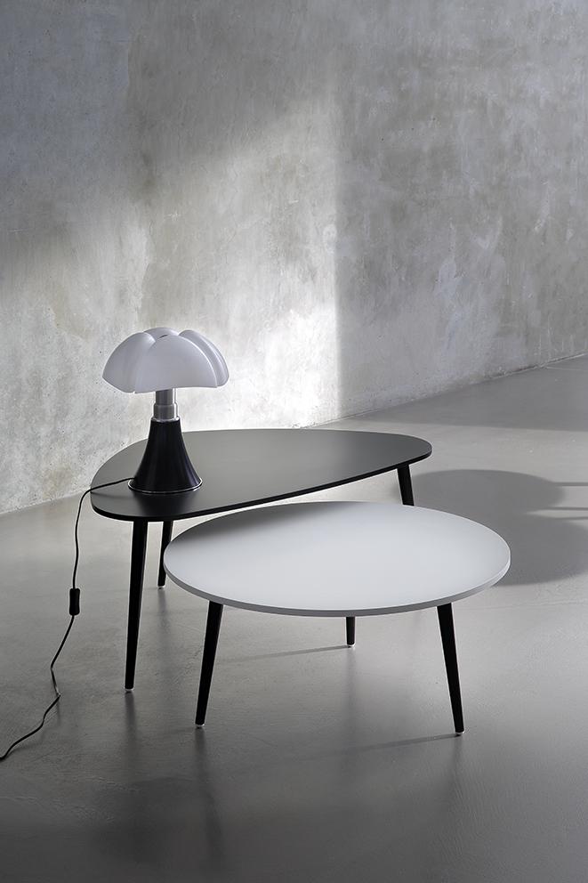 Table basse Soho ronde, blanc