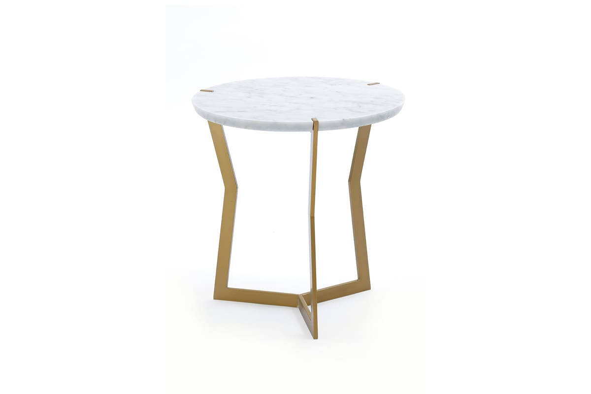 Star mini pedestal coffee table, golden