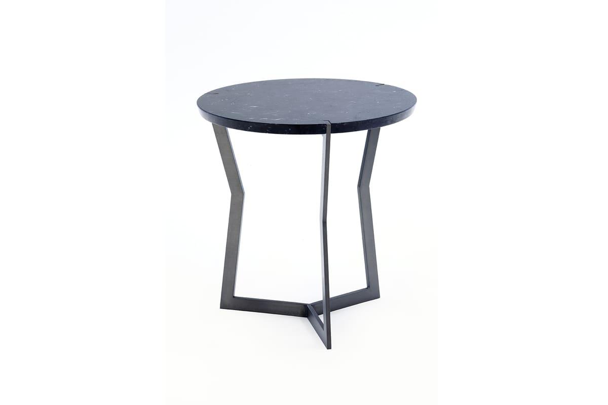 Star mini pedestal coffee table, bronze