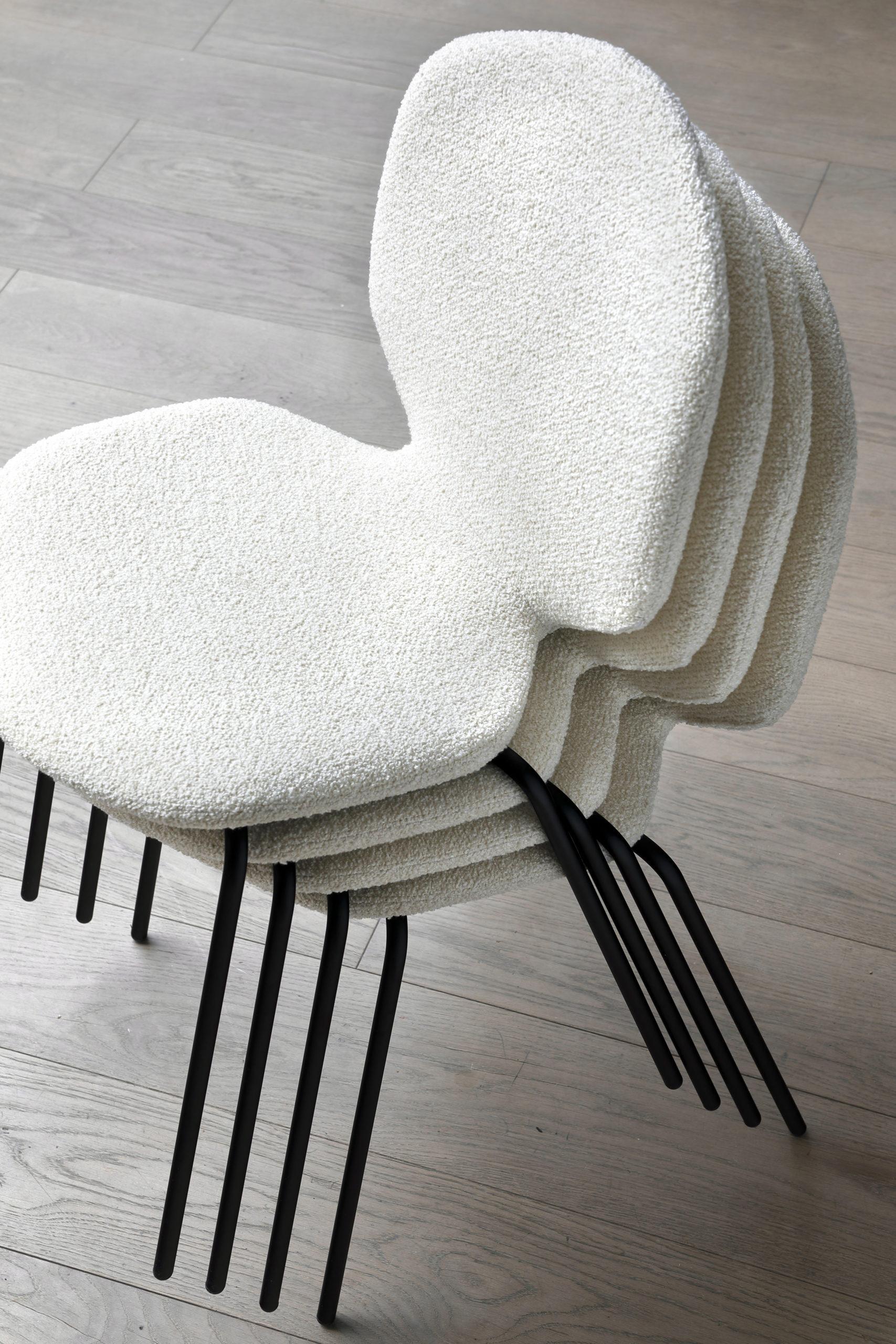 Chaise Loulou tissu
